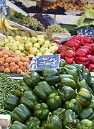 Fruit and vegetables for sale at a Frenc