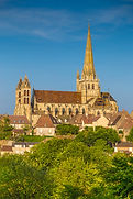 Historic town of Autun with famous Cathe