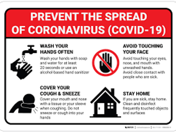 Spread Prevention Wall / Door Sign