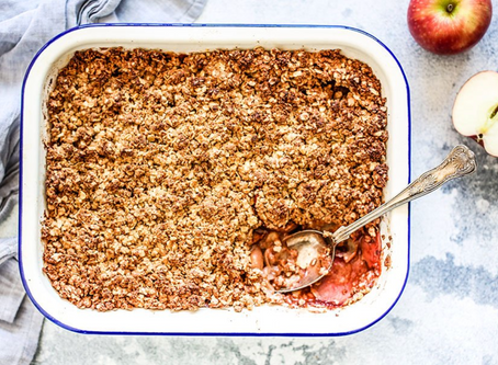 Healthy Apple Crumble!