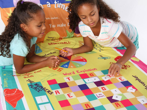 Dad turns Bed Sheets into Boardgames to Fight Boredom