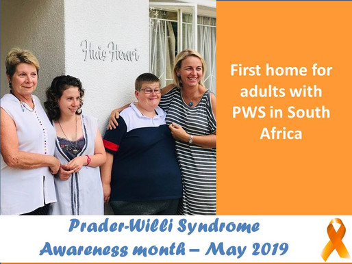 Prader-Willi Syndrome (PWS) Awareness day 31st of May: The first home for Adults with PWS