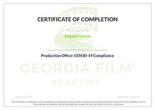 COVID-19 Compliance Certificate