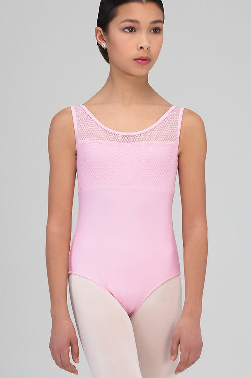 Peacok, Tank Leotard with Mini Flower Lace Detail