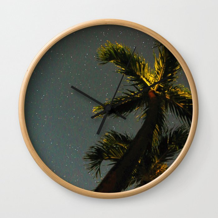 Star Filled Palms Clock