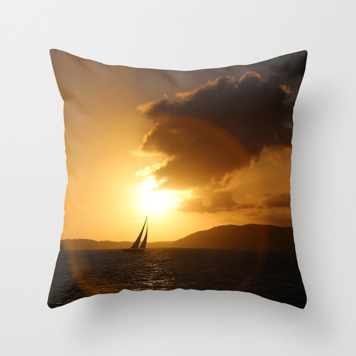Sunset Caribbean Sail Pillows