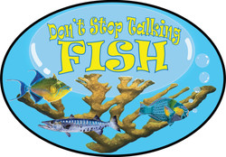 Don't Stop Talking Fish Logo