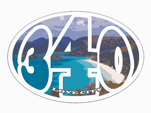 340 Lifestyle Stickers: Trunk Bay Classic