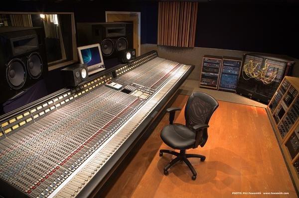 SSL G+ console in control room