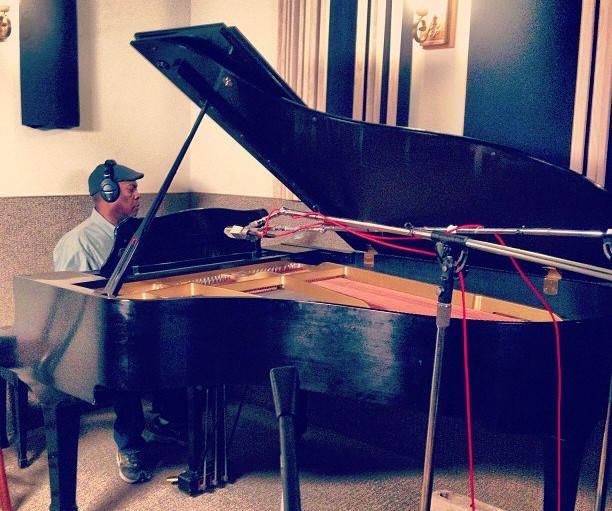 Booker T. Jones at the Yamaha grand piano