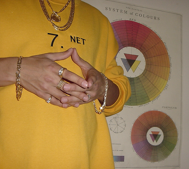 7. net // embroidered crewneck [full court rappin]