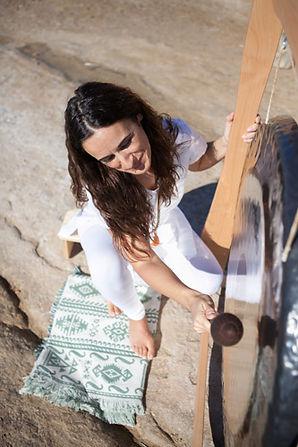 Meditación con gong
