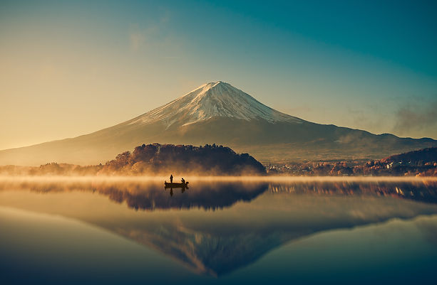 Mount fuji san at Lake kawaguchiko in ja