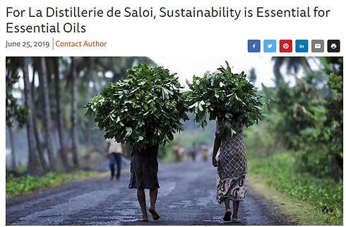 article Perfumer and Flavorist sur les valeurs de la distillerie de Saloi