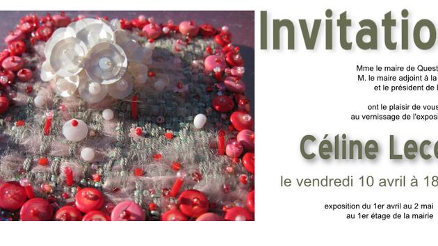 Vernissage de l'exposition à la mairie de Questembert