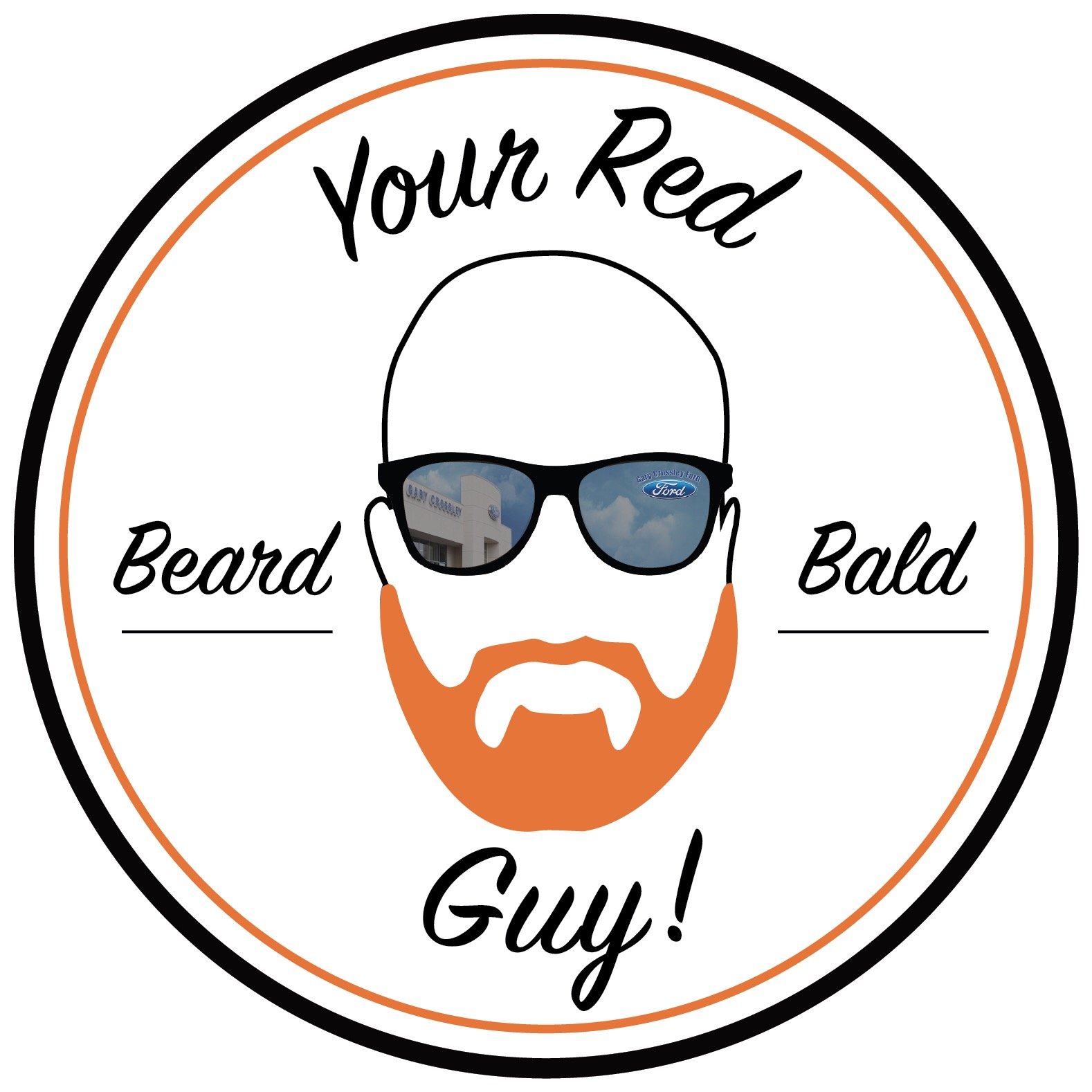 Your Red Beard Bald Guy logo