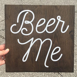 Custom sign order #beerme #woodensign #c