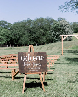 Wedding Entrance Sign