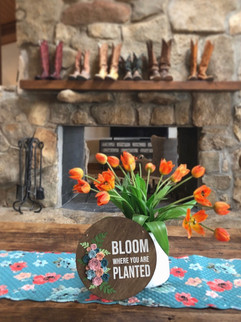 Floral sign made for The Pioneer Woman