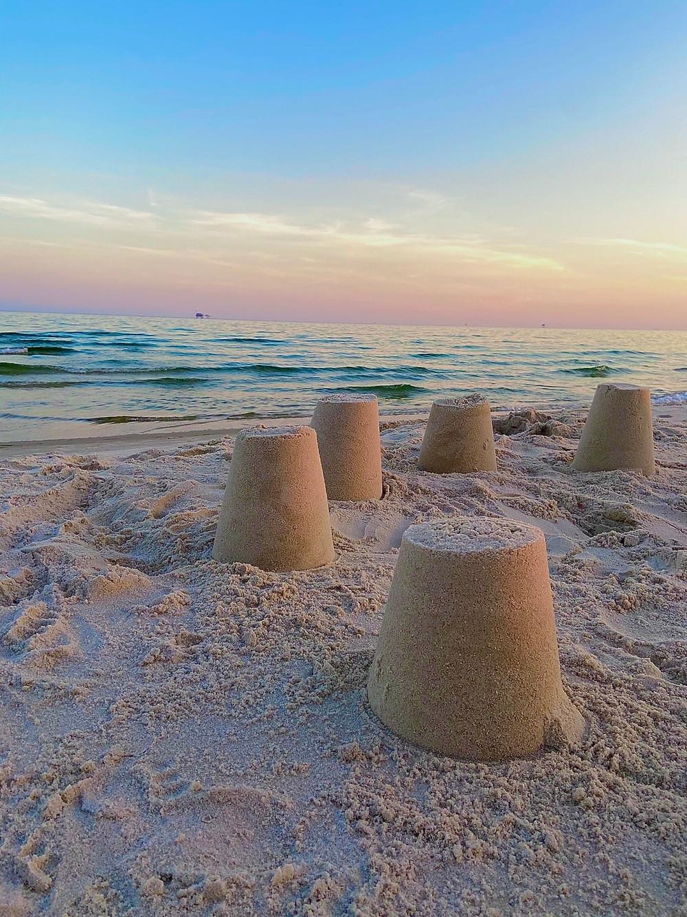 Gulf Shores Beach at sunset