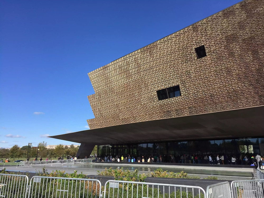 Exterior of the National Museum of African American History
