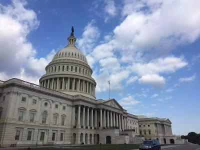 Facade of the Capitol Building in Washington DC