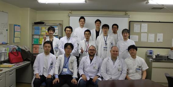 С колегите от клиниката по урология в Токио, Япония