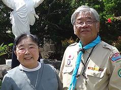 シスター宮城(左)と平団委員長(右)