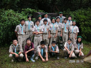 キャンプの集合写真
