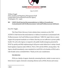 USEPA PFAS Draft Interim Recommendations Comments