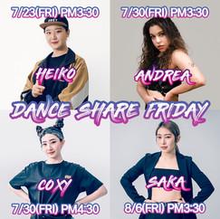 2021 DANCE SHARE FRIDAY 안내