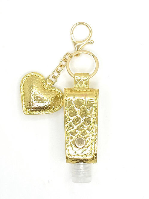 Perfectly Posh Metallic Python Heart Holder