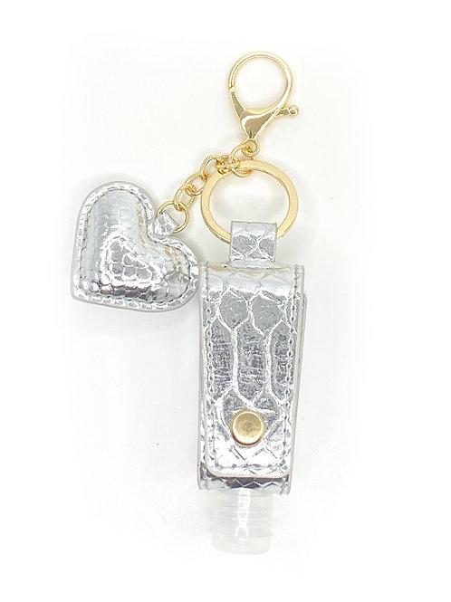 Perfectly Posh Metallic Python Heart Holder