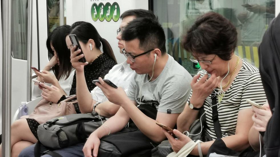 Belle brochette de smartphones !