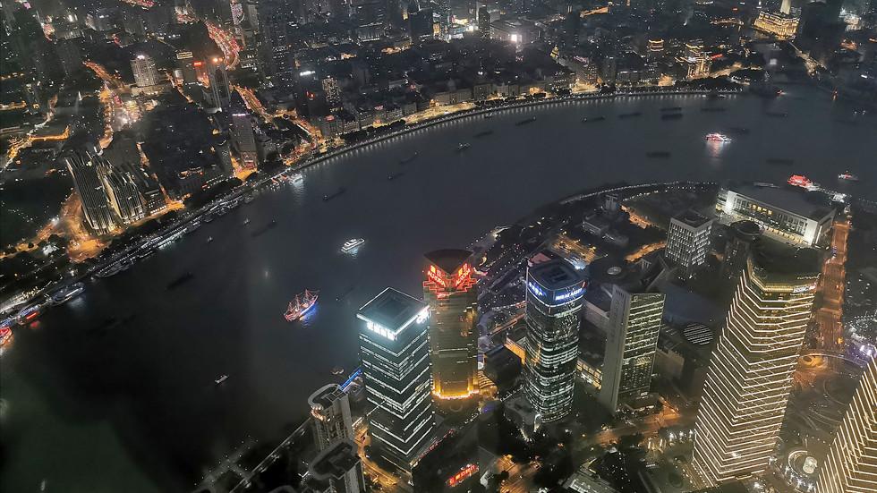 Vue depuis le sommet de la Shanghai Tower (632m)