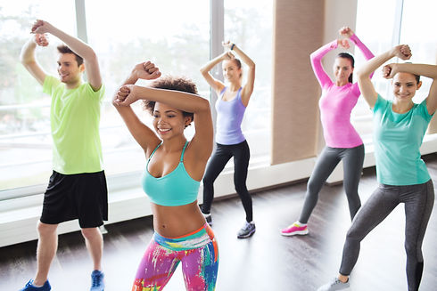 fitness, sport, dance and lifestyle conc