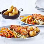 ovenschotel pesto kip tomaat en paprika.