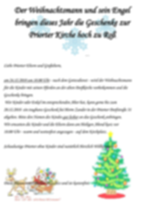 Weihnachtsmann in Priort - Flyer - 2018