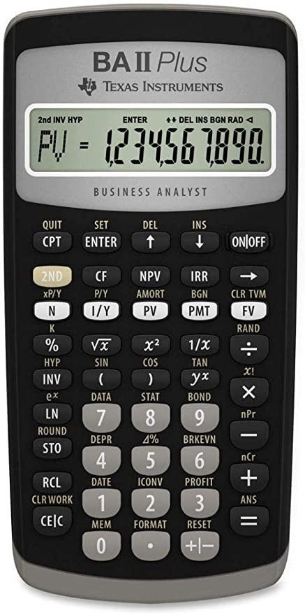 آلة حاسبة مالية - بي ايه بلس - تكساس انسترومنتس