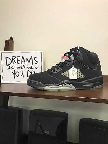 "Air Jordan Retro 5 ""OG metallic silver""Size 11"