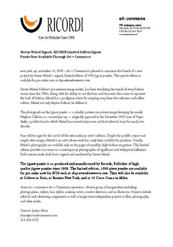 Meisel Ricordi Puzzle Press Release_Page_1