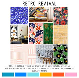 Concept board, inspiration and colour palette
