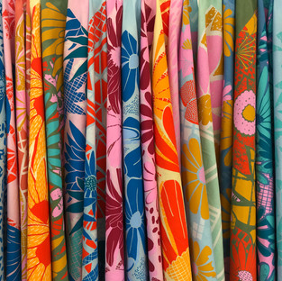 Screen printed fabrics
