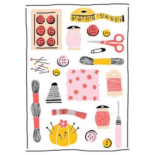 Sewing Illustration