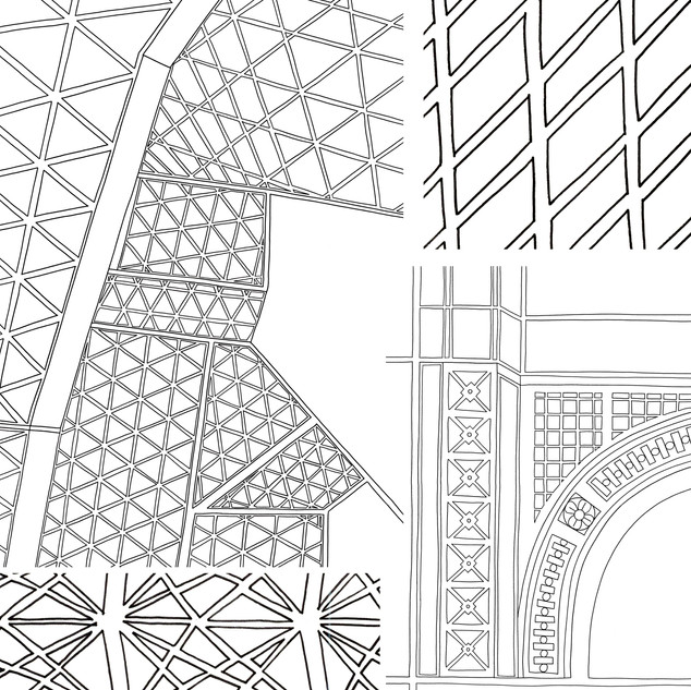 Architectural details observational drawings