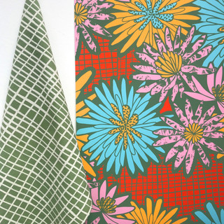 Screen printed fabric and wallpaper