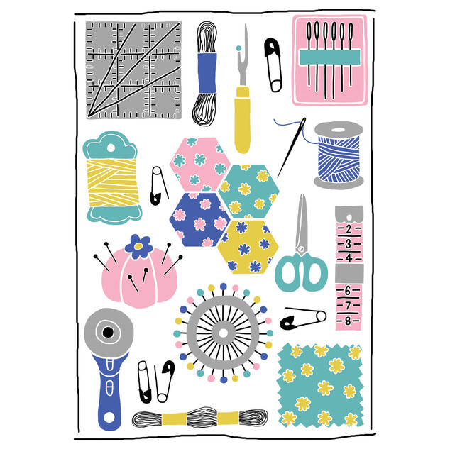 Quilting Illustration
