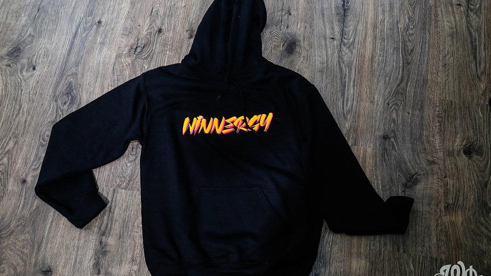 Black Pink/Yellow Winnergy hoodie