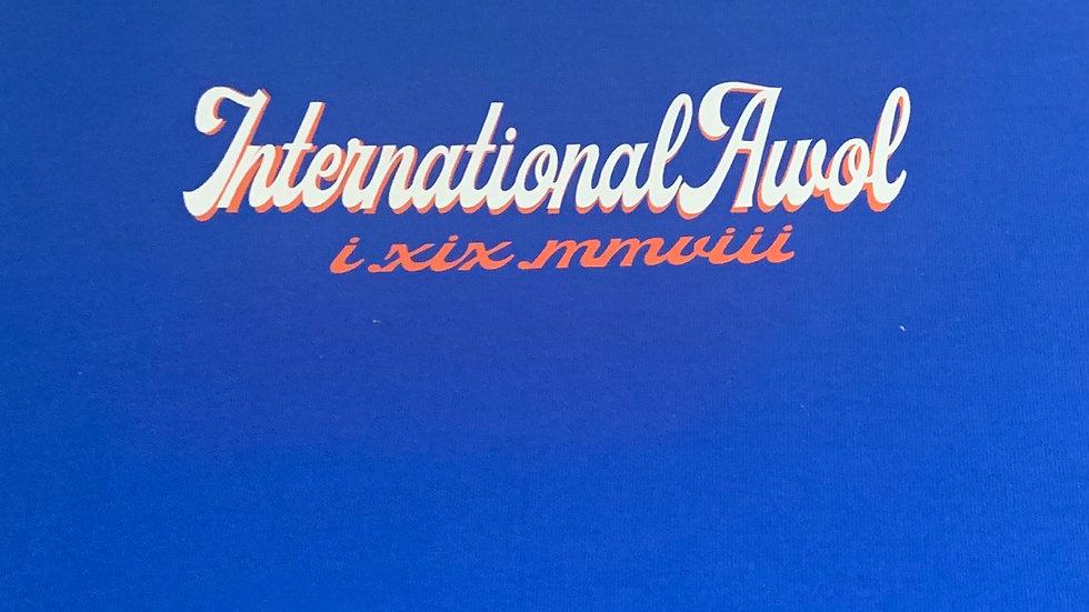 Blue International AWoL Orange/White Script Tee