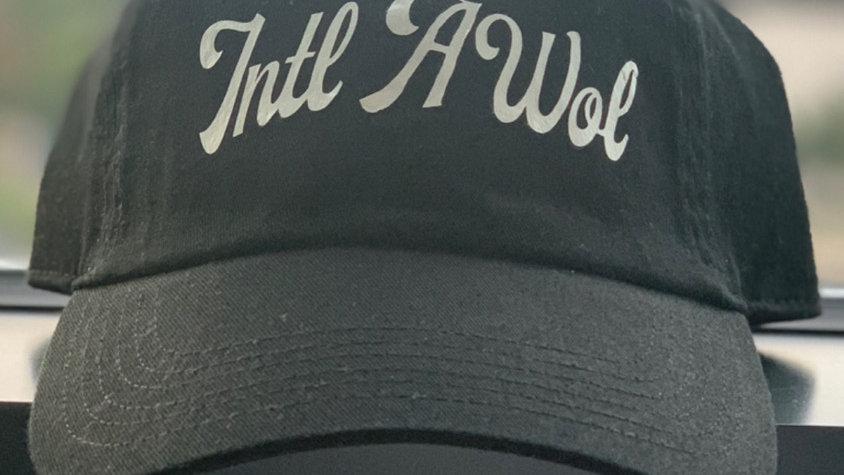 The black Intl AWoL dad hat